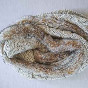 *3 for $12* Faux Fur-edged Infinity Scarf